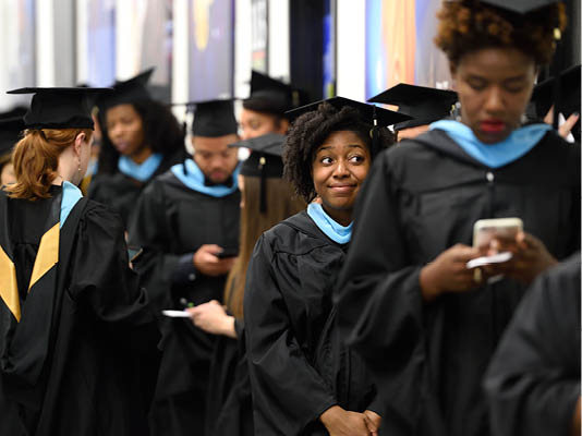 Students at Commencement Ceremony