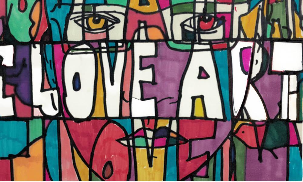 """""""I Love Art"""" artwork"""
