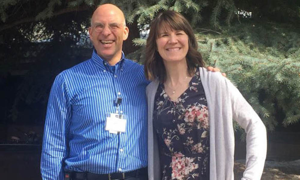 Joanne Rolls (right) and Richard Backman (left) of the University of Utah