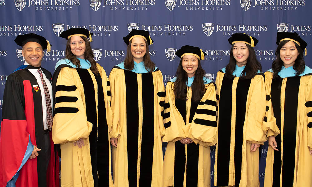 Dean Morphew with 2018 graduating class of PhD students