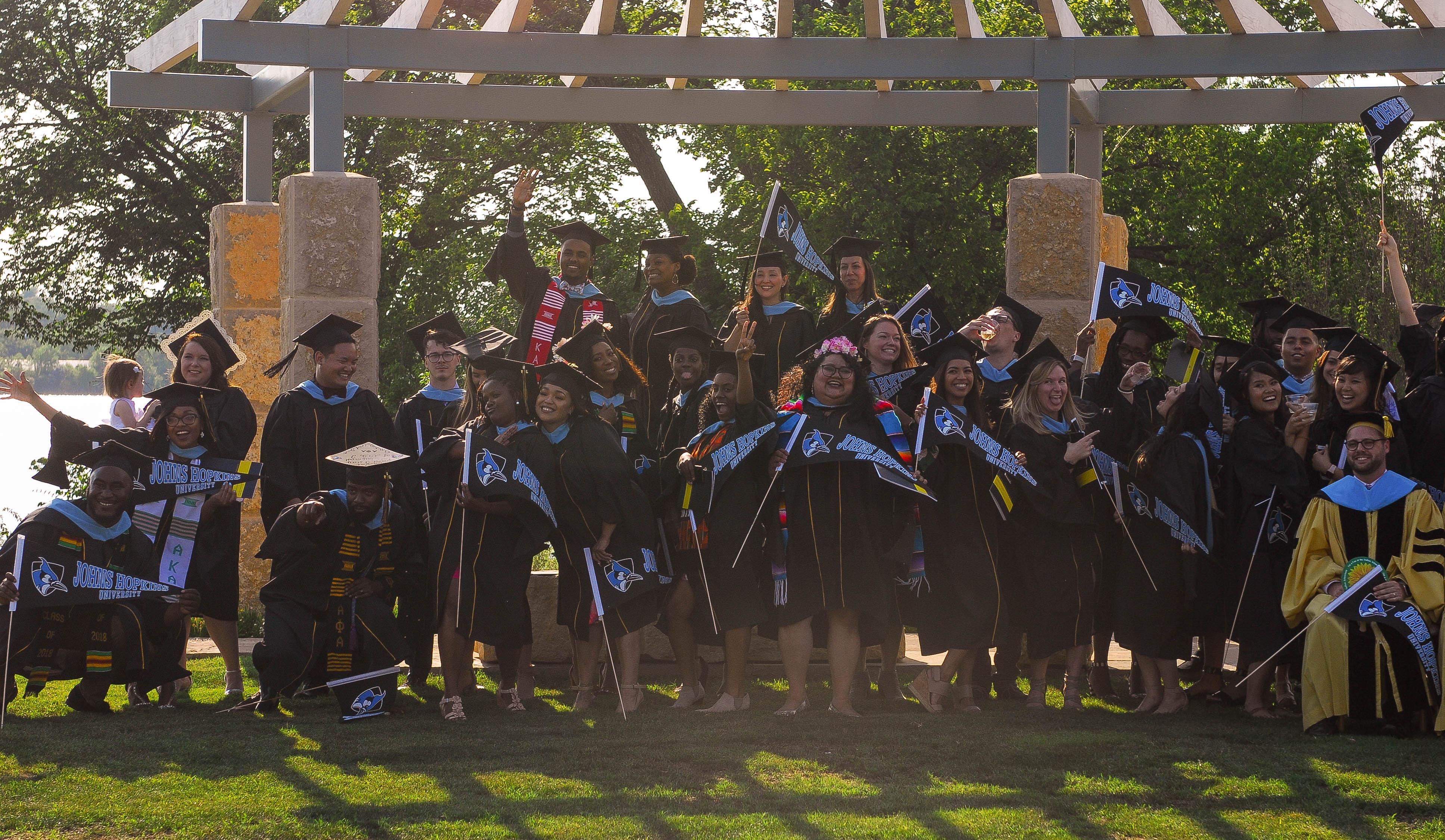 Graduates at the reception
