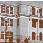 The cover image for a report called the Great American High School report showing a school building.