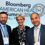 Deans Christopher Morphew, Ed Schlesinger, and Ellen MacKenzie at the inaugural Bloomberg American Health Summit in Washington, D.C.