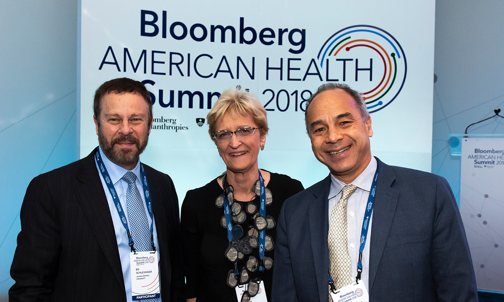 Dean Christopher Morphew joined deans Ed Schlesinger and Ellen MacKenzie at the inaugural Bloomberg American Health Summit in Washington, D.C.