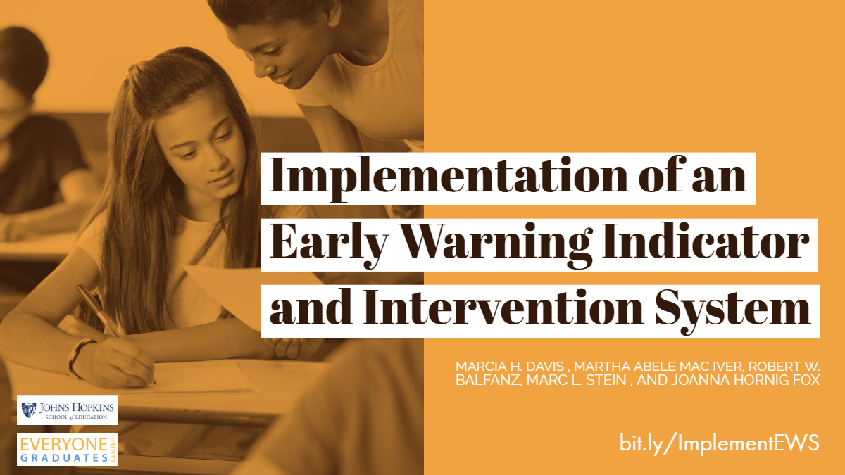 """Implementation of an Early Warning Indicator and Intervention System Poster"