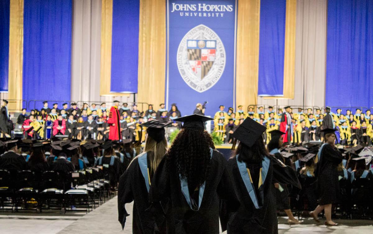 JHU School of Education graduation ceremony