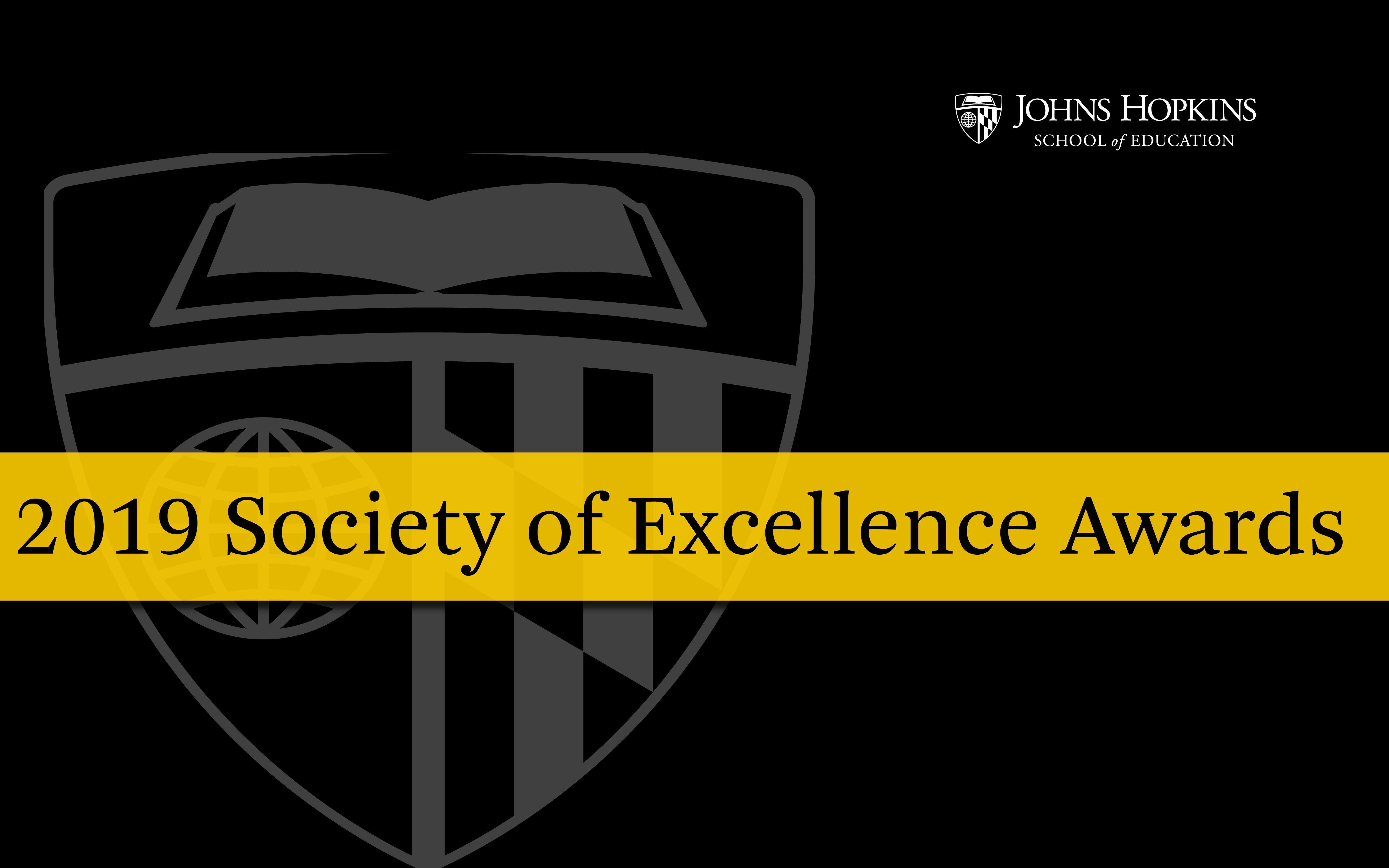 2019 Society of Excellence Awards poster
