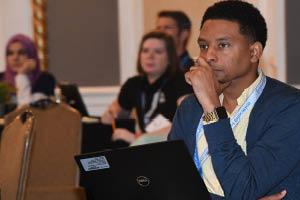 Man listening in Seminar