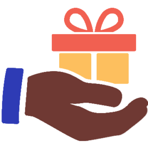 Icon of hand holding gift