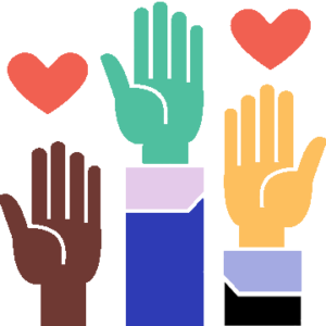 Icon of People raising Hands