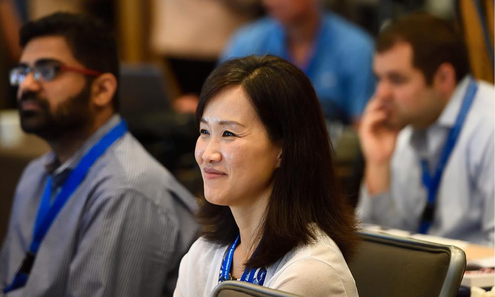 Woman listening in a seminar