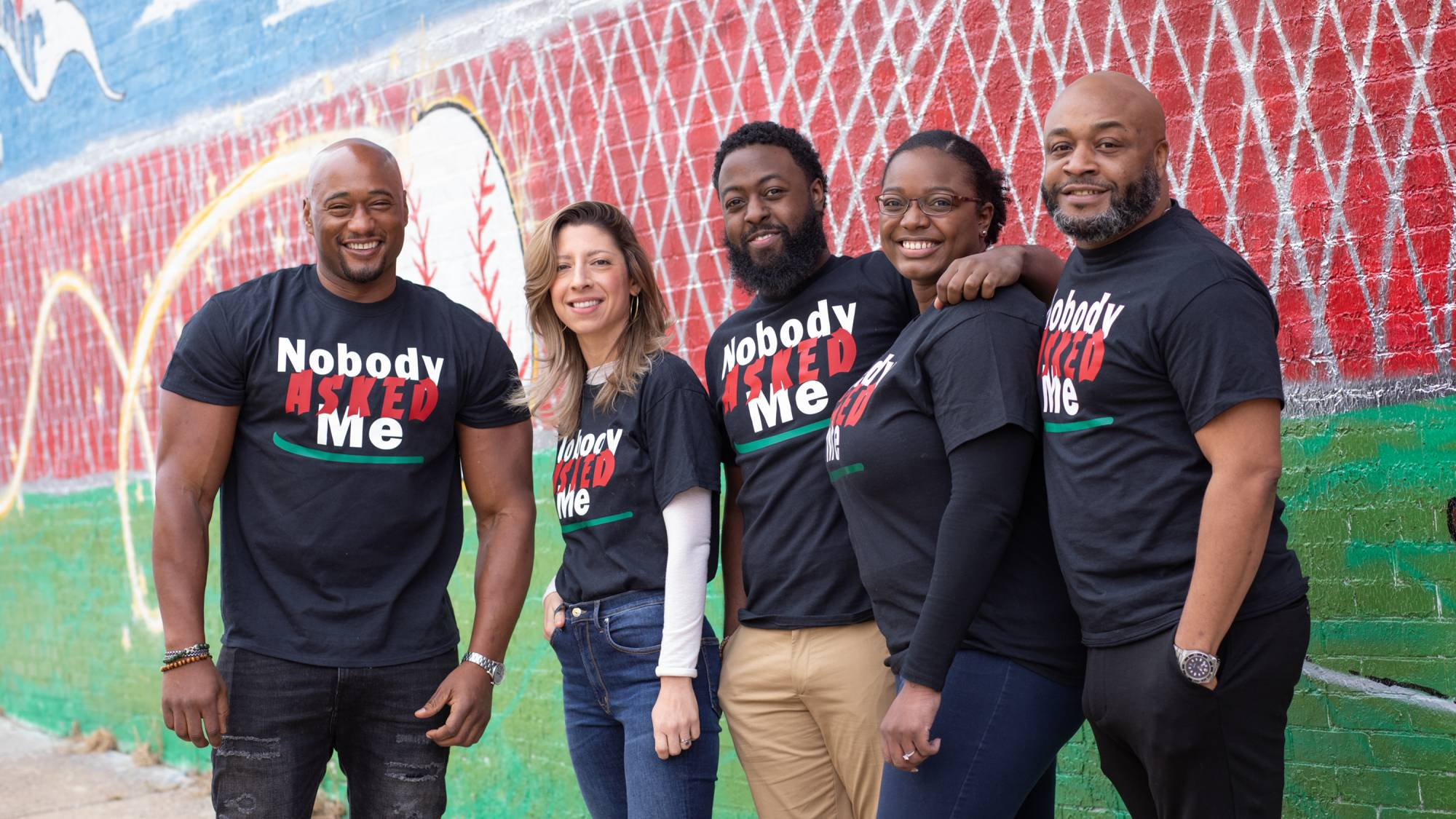 Nobody Asked Me research team (from left) Richard Lofton, Rebecca Gamez, Dantavious Hick, Zyrashae Smith, and Larry Simmons