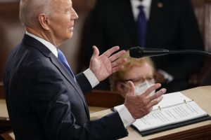 President Joe Biden speaks to a joint session of Congress in the House Chamber at the U.S. Capitol in Washington.