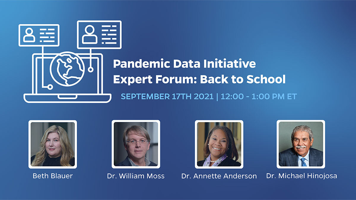 Pandemic Data Initiative Expert Forum: Back to School poster