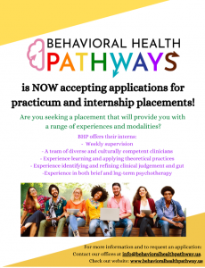 Counseling Practicum and Internship Opportunities poster